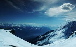 Wallpaper snow, highlands, winter, snowboarding, height, sky 592