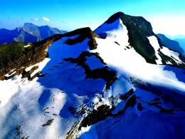 Alpes blue sky snow mountains nature:High Contrast 1352