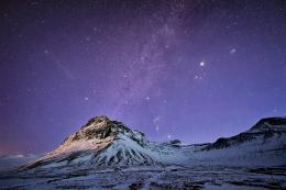 Stars snow Iceland night mountains sky wallpaper | 2048x1367 | 121852 1495