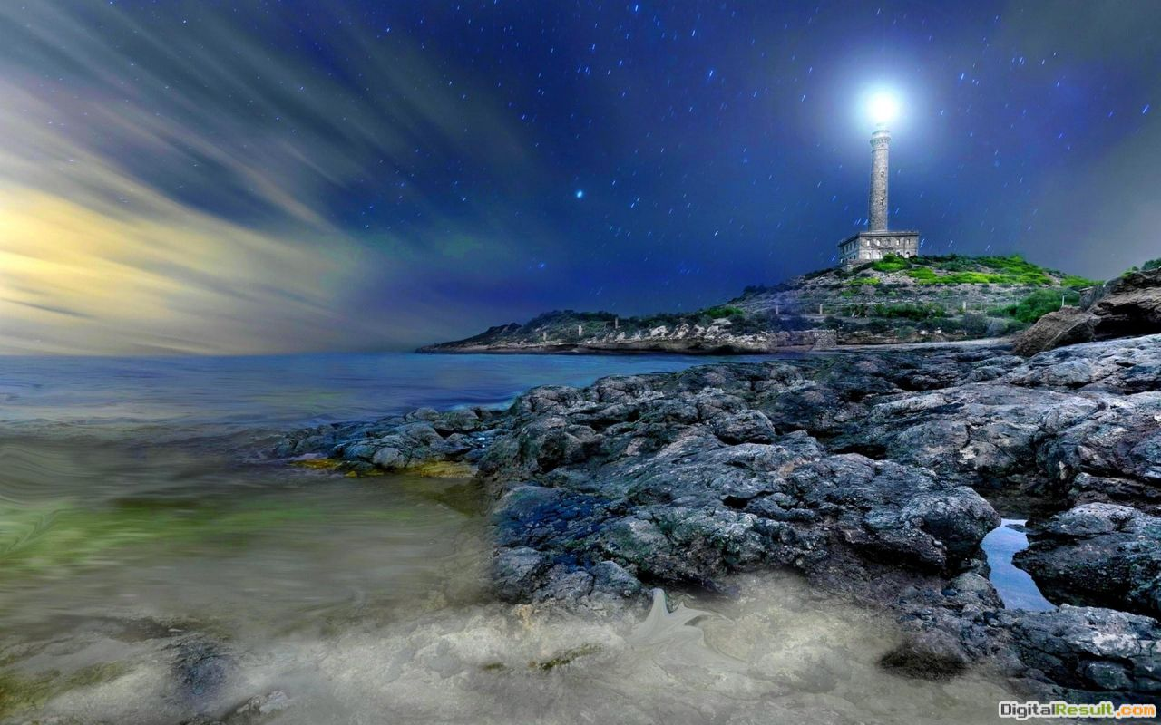 Wonterful Starry Lighthouse Hd Wallpaper | Wallpaper List 610