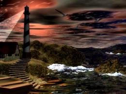 Lighthouse Hill Dusk Abstract Rocks 3d And hd wallpaper #46413 1655