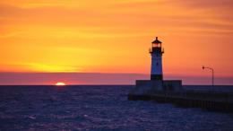 Man must behave like a lighthouse; he must shine day and night for 522