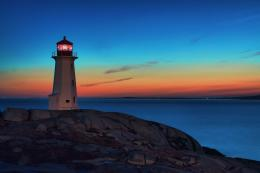 Lighthouse At Dusk 1031