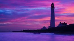Coast, lighthouse, dusk, ocean, rocks, cliffs wallpaper 1920x1080 Full 840
