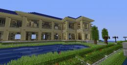 Minecraft House Luxury HD Wallpaper of  744