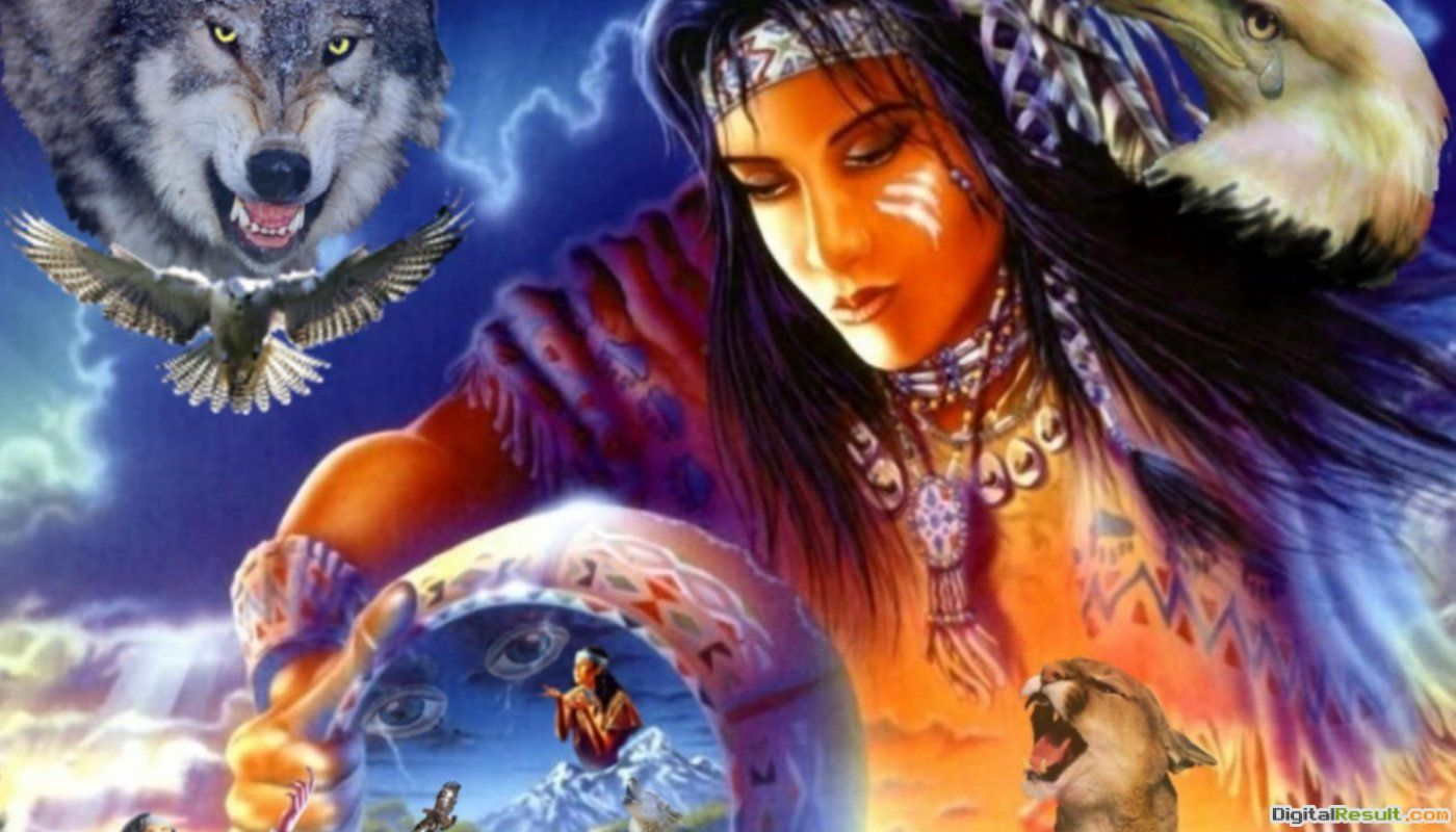 Native American Wolf Spirit Spirit of a native american 629