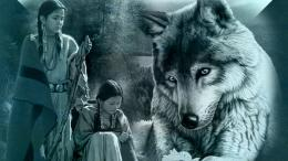 wolf with native women 1240