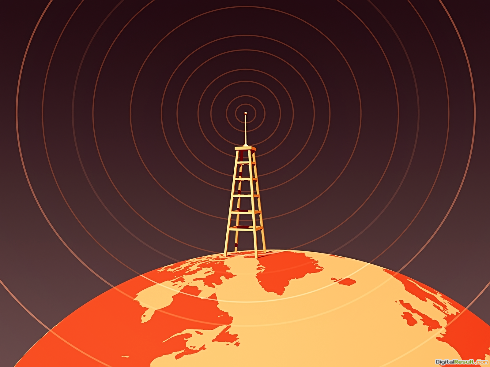 Retro Earth Radio Tower wallpaper – Conservative Morality is 345