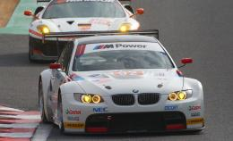 Rahal Letterman Racing team\'s BMW M3 GT2 race car at the Asian Le Mans 807
