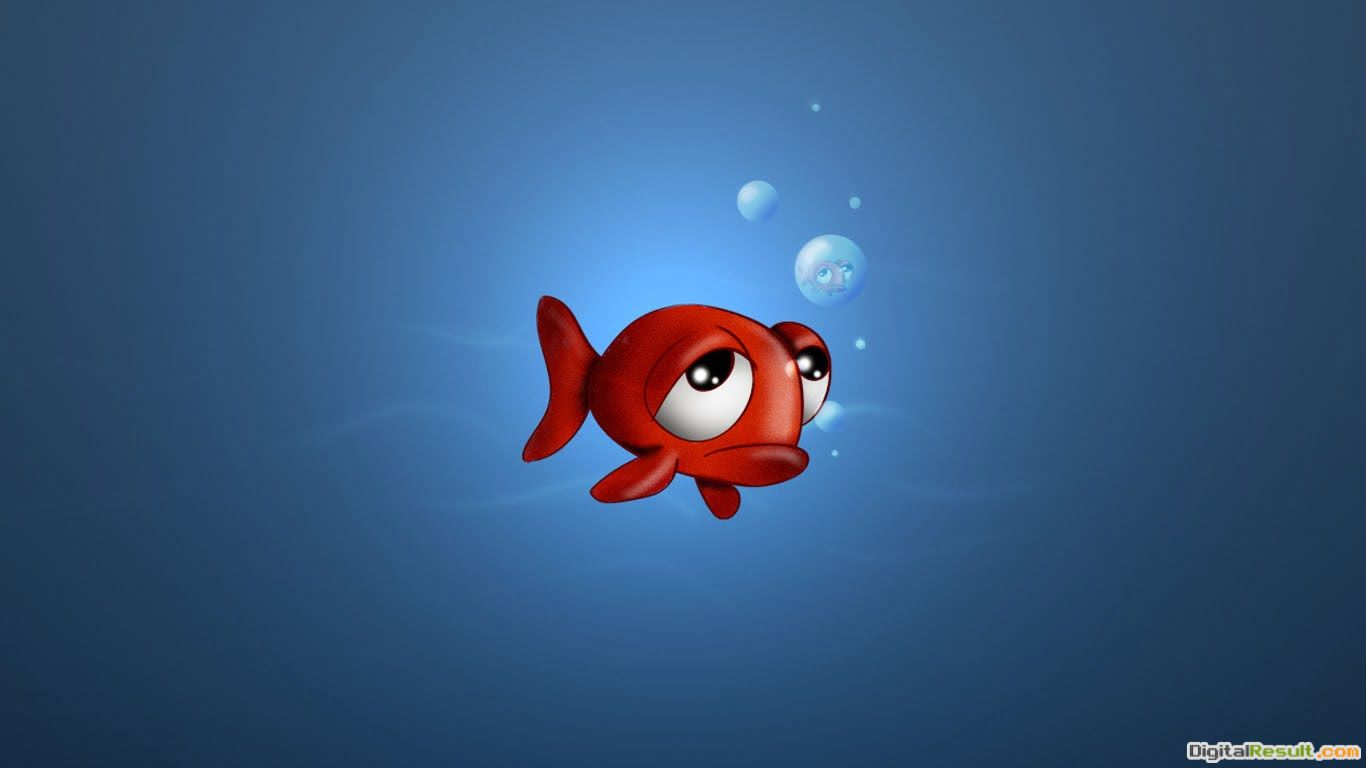Sad Red Fish Cartoon Wallpaper ~ Free Cartoon Wallpapers 969