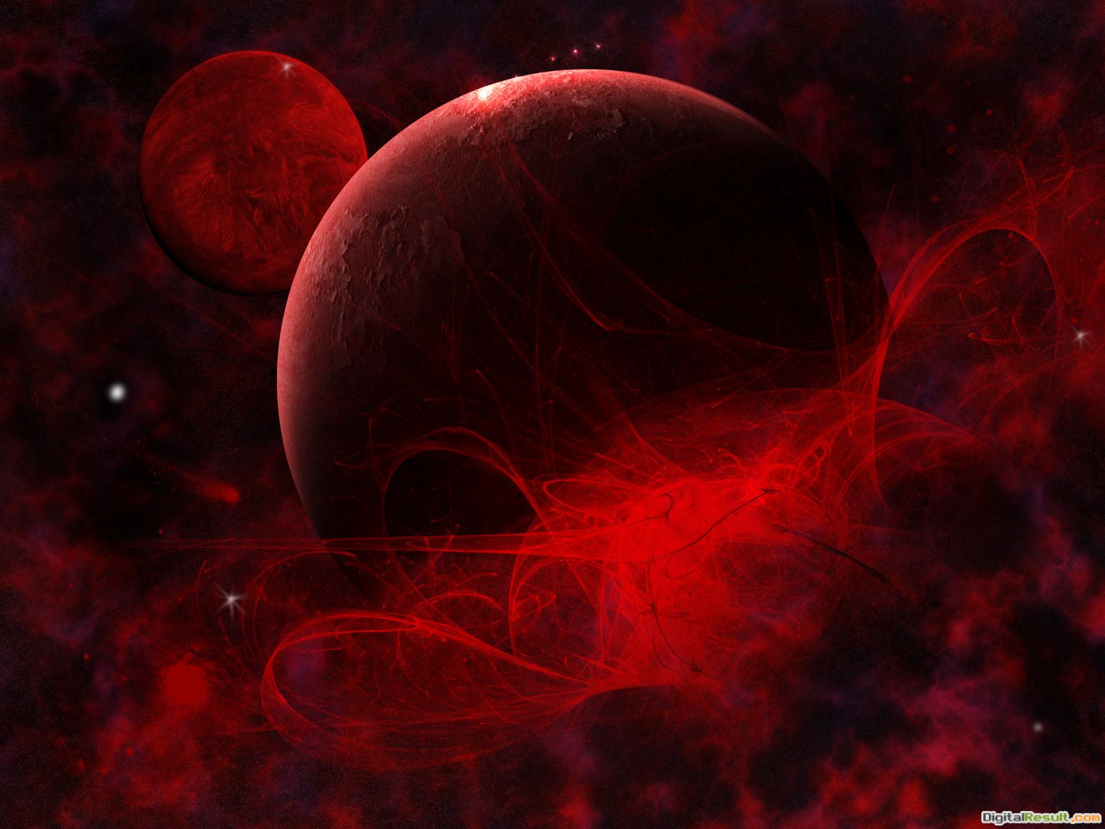 Wallpaper #286 Birth of a planet | Red and Black Wallpapers 360