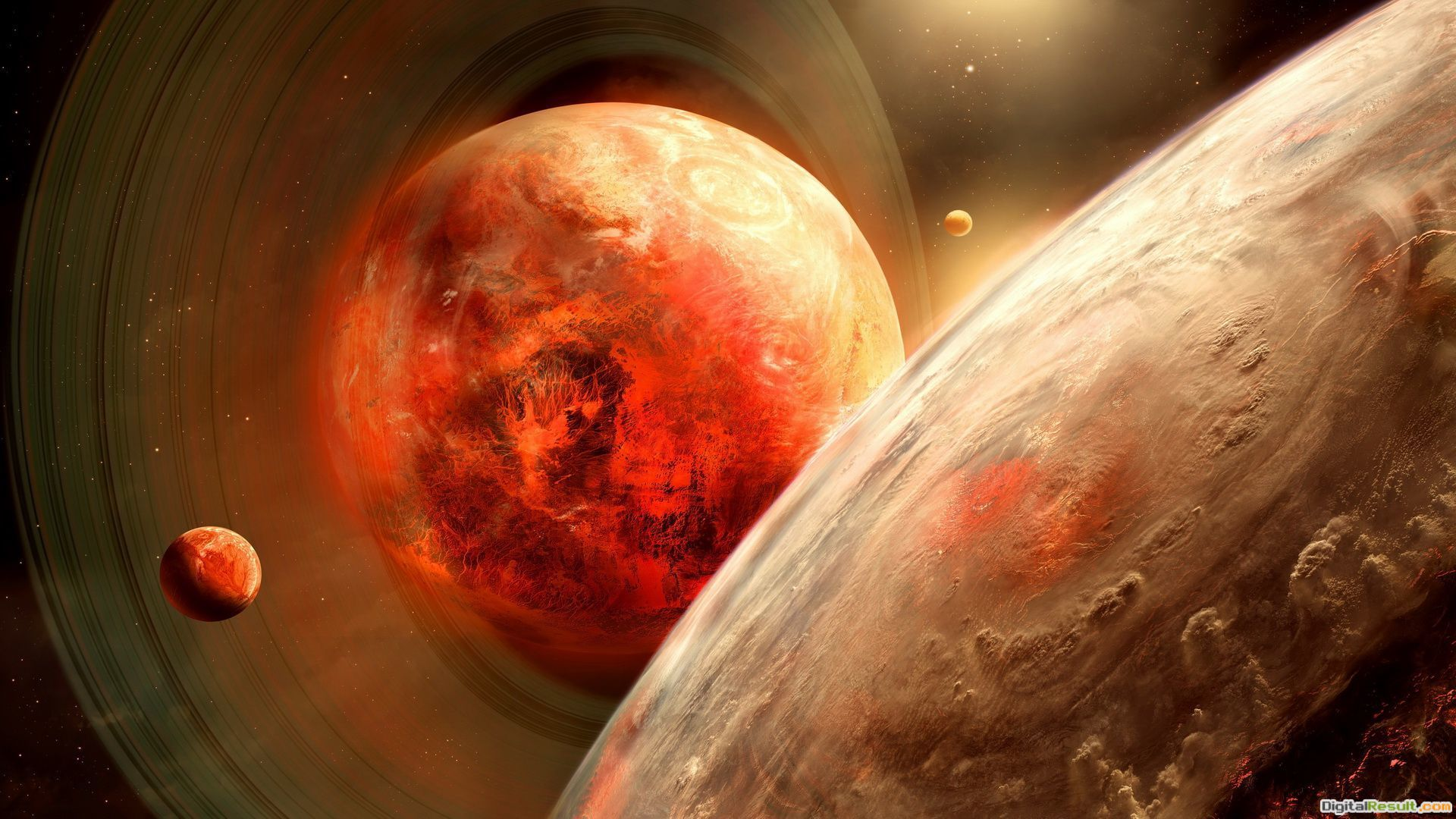 Red planet wallpaper 1682