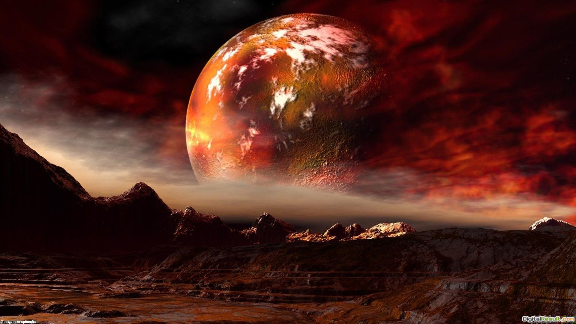 Red planet wallpaper #19970Open Walls 1186