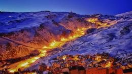 Ski resort town of monachil spain at night 824