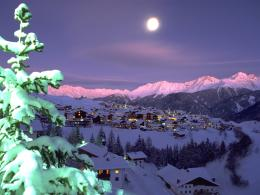 Evening lights at the ski resort of Serfaus, Austria wallpapers and 295