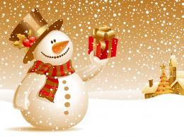 Happy Christmas Snowman WallpaperHD Wallpapers 1116