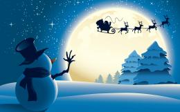 Snowman Santa Claus Christmas HD Wallpaper 1827