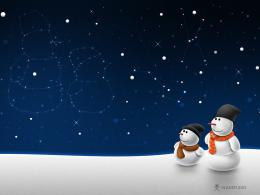 Free Christmas Wallpapers and PowerPoint Backgrounds PicturesSnowman 1273
