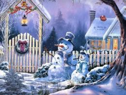 Christmas Wallpapers: Cute Christmas Snowman Wallpapers 1757