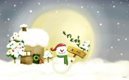 Download Snowman Wallpapers wallpaper, \'snowman christmas wishes\' 1499