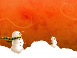 Free Christmas Wallpapers and PowerPoint Backgrounds PicturesSnowman 1248