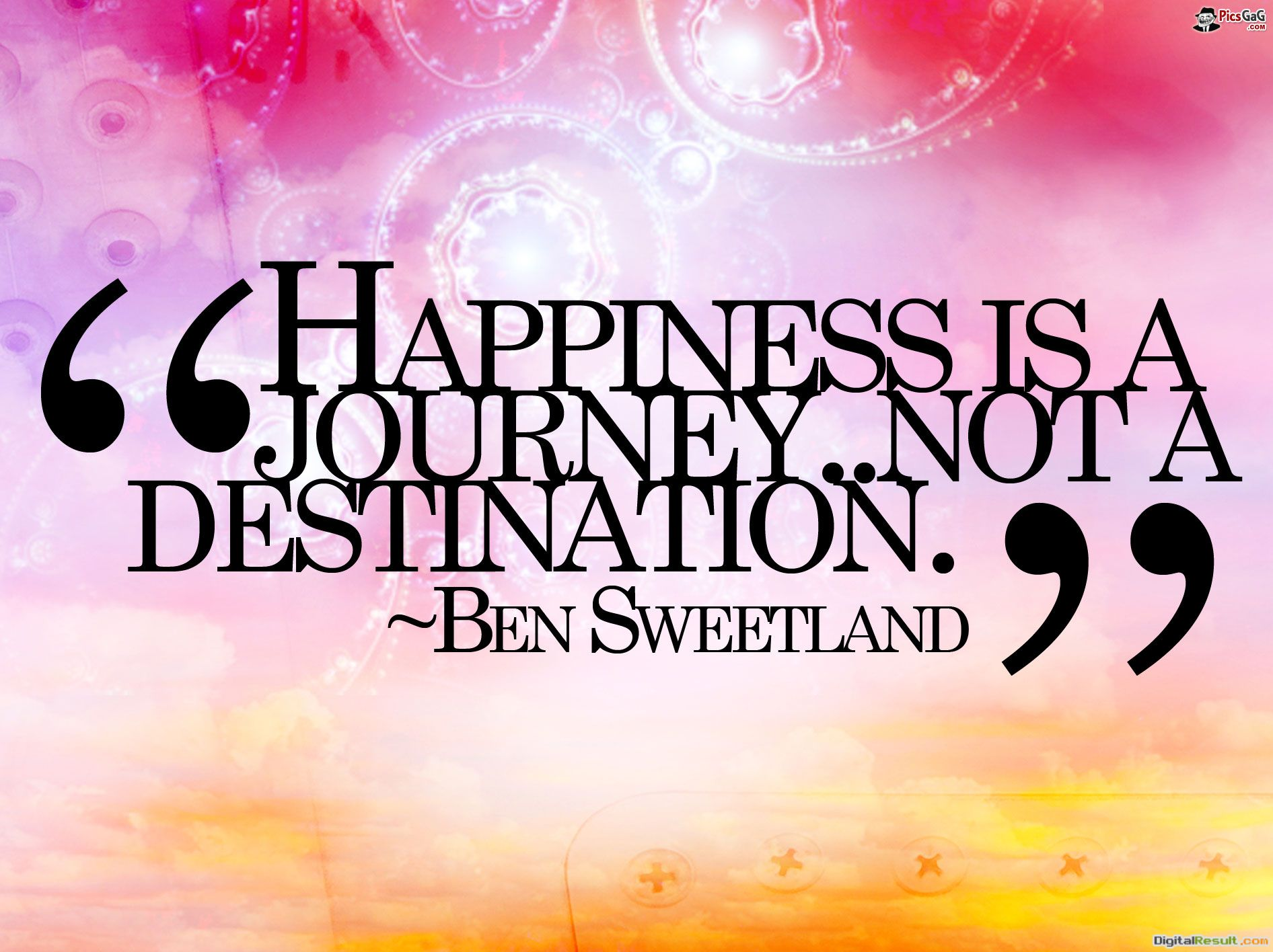 Happiness Is A Journey Quote HD Wallpaper #6051 Wallpaper computer 1046