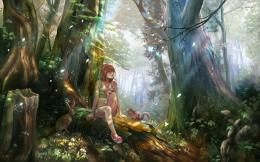 girl in the magical forest anime wallpaper 1632