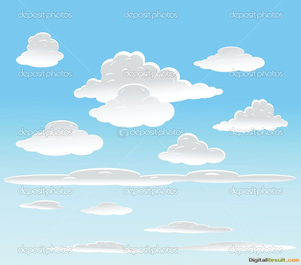 Cartoon Clouds Background 1305