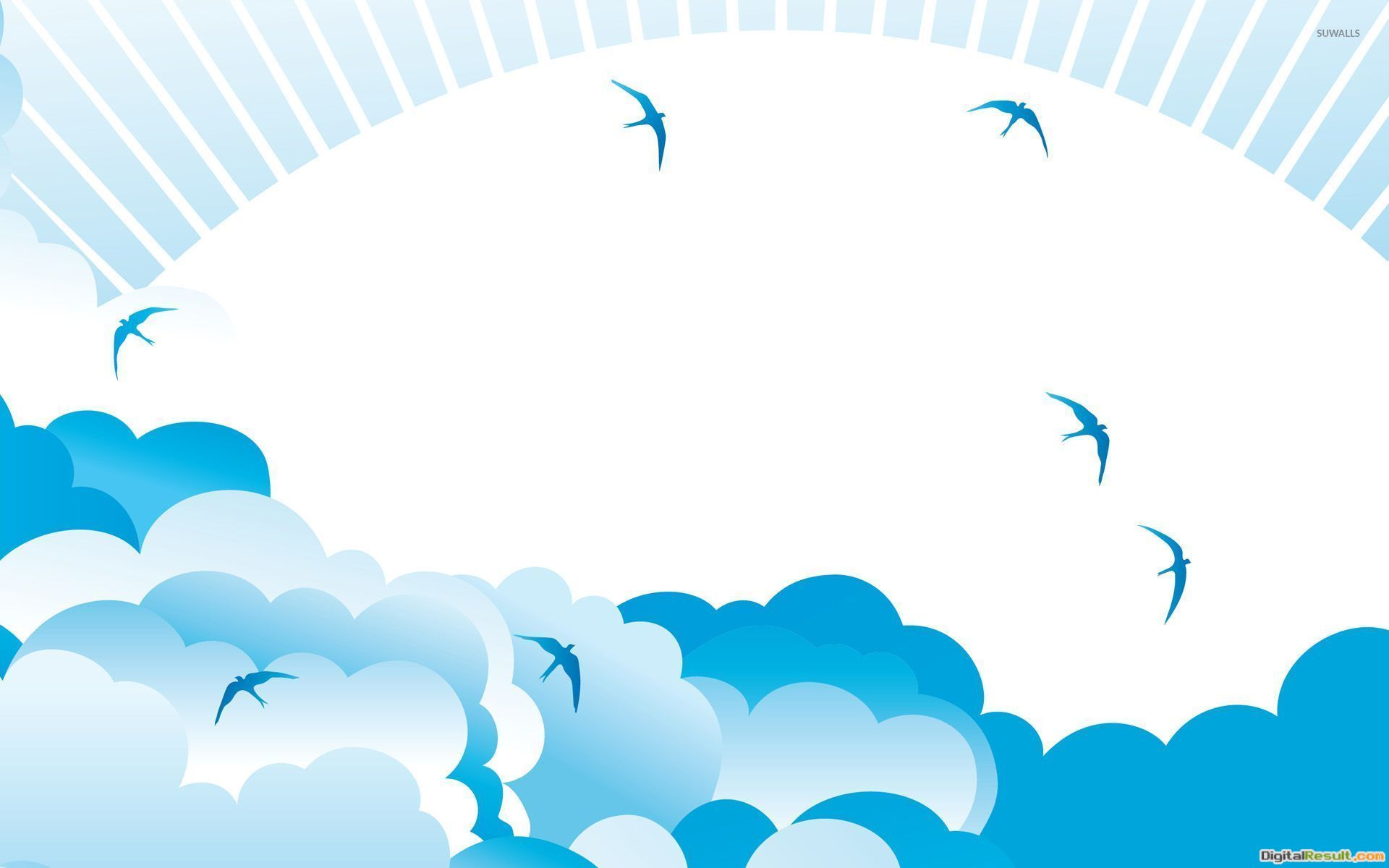 Clouds and birds wallpaperVector wallpapers#11748 197