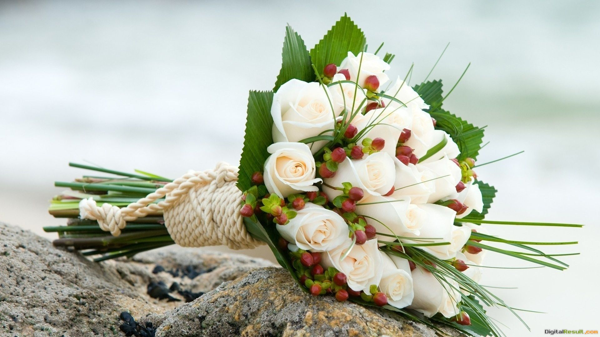 White roses in a wedding bouquet wallpapers and imageswallpapers 1219