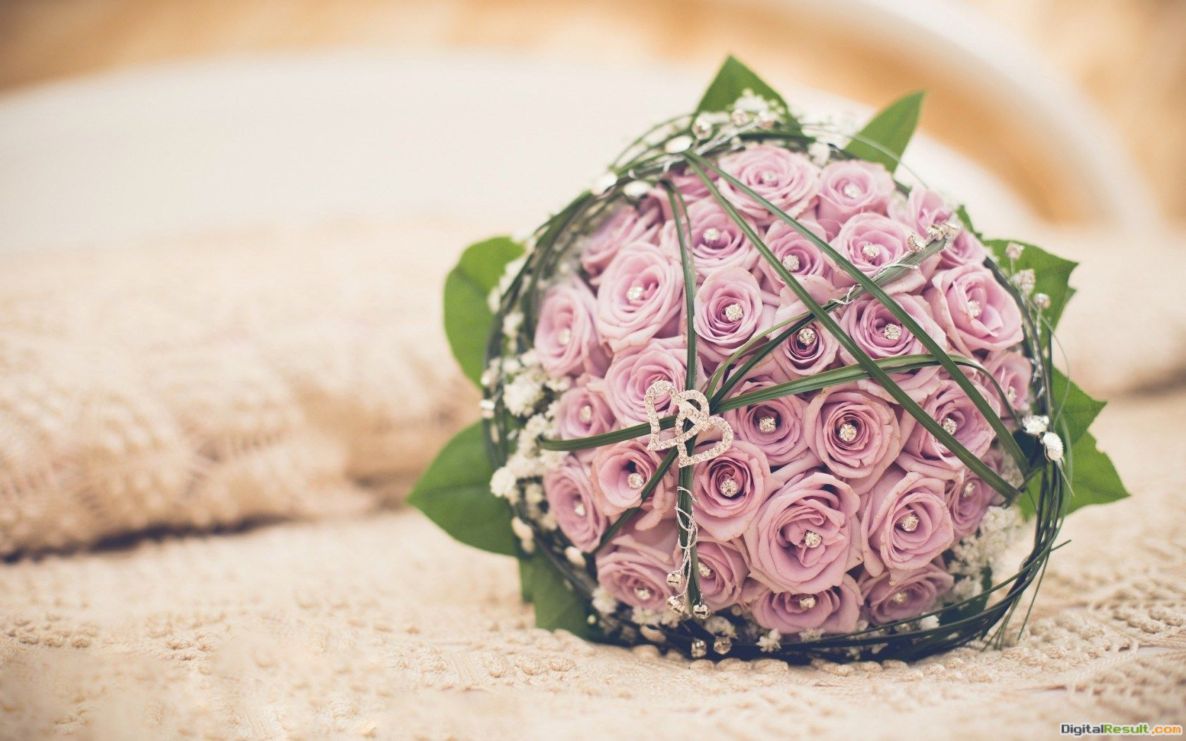 Bouquet Wedding Flowers Roses Hearts Love #6914403 1695