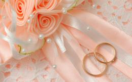 Peach Wedding Ring Background 683