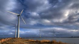 Wind turbines on the coast wallpaper578236 1931