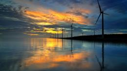 Wind turbines in the sunset Wallpaper #12724 1980