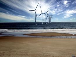 Wallpaper Wind turbine at sea1600 x 1200Desktop wallpapers 1198