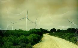 Wind Turbine Farm Hd Wallpaper For Standard 4 3 5 4 Fullscreen Uxga 485